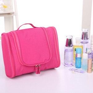 Image 4 - Foldable Travel Storage Oxford Bath Waterproof Wash Bag Home   Organizer Female Mens Multi Function Hanging Hook Package