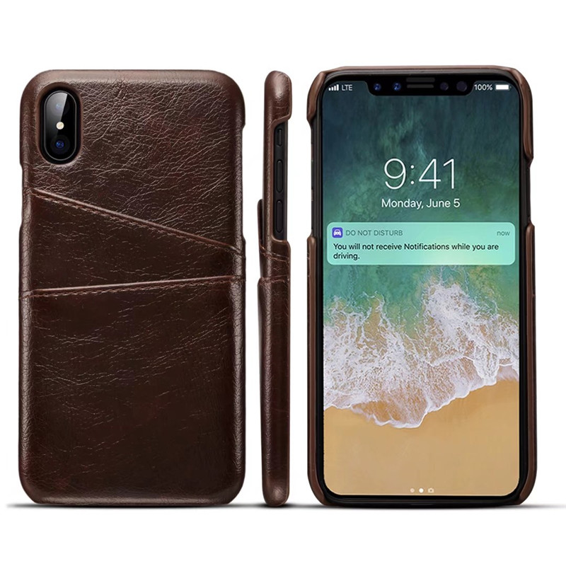 Luxury PU Leather Wallet Case For iPhoneX IPhone x Case Business ...