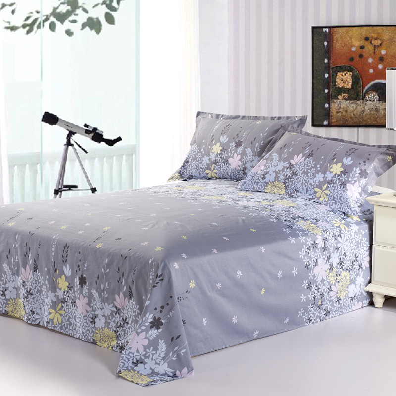 Furniture Efficient Comwarm 100% Cotton Modern Bed Sheets Colorful Floral Printing Bedspread Bedlinen Sleep Cozy Mattress Cover For Home Hotel 1pc Can Be Repeatedly Remolded.