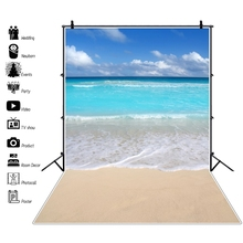Summer Tropical Holiday Sea Beach Sand Cloudy Blue Sky Baby Scenic Photography Backgrounds For Photo Backdrops Studio