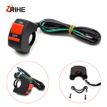 Motorcycle Handlebar Switch ON/OFF Button 12V Headlamp For Kawasaki Z ZR ZX 125 250 750 750R 750S 800 1000 SX