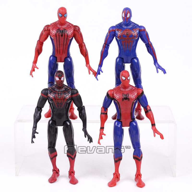 New Movie Spider Man Homecoming The Amazing Spiderman PVC Action Figures Toys Gifts for Boy 4pcs/set 16cm