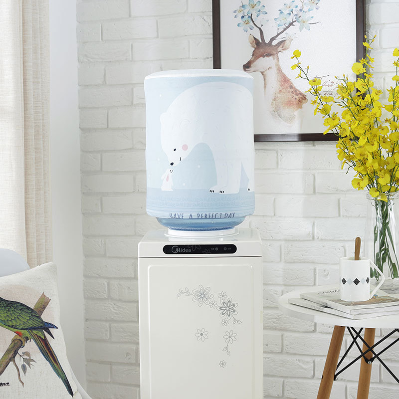 Dustproof Printed Cartoon Cloth Art Drinking Fountains Barrels Water Dispenser Dust Cover Household Merchandises Protector in Water Dispenser Covers from Home Garden
