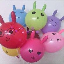 2015 New Product thickening rabbit balloon, shaped latex balloons, animal shapes buck happy birthday decoration