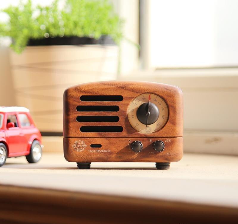 ICL classique roi petit Prince OTR Bluetooth haut-parleur FM radio bois Mini lecteur de musique sans fil audio MW-2 pour PC téléphone portable