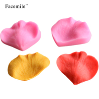 Facemile 2Pcs/Set DIY Cake Mould Petal Shape Fondant Decoration For Christmas Birthday Party 50-172 Gift