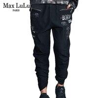 Max LuLu Vintage Fashion Korean Style Girls Punk Streetwear Womens Printed Harem Pants Black Pantalon Femme Woman Denim Trousers