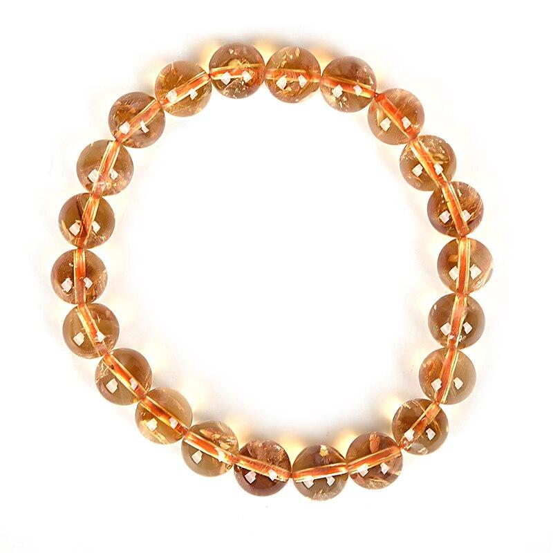 Bracelet de perles et de pierres précieuses transparentes en petit cercle en or, peut offrir un cadeau de vacances fabriqué à la main