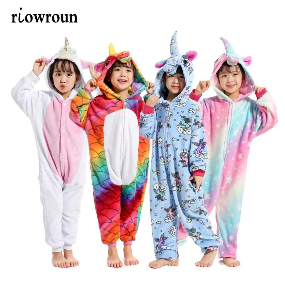 Хэллоуин Дети кигуруми аниме детские костюмы косплей мультфильм животных  пижамы стежка Единорог Покемон зима теплая с e7353de91e73b