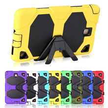 For Samsung Galaxy TAB A 8.0 T350 T351 T355 Armor Hybrid Shockproof Kickstand Case Cover W/ Bulit-in Front Protective Film