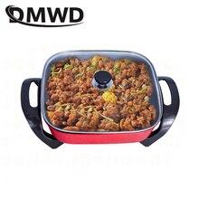 DMWD многофункциональная сковорода, электрическая жаровня, Корейская жаровая тушеная супа, горячий горшок, 5л гриль, сковорода, приготовление пищи, пароварка