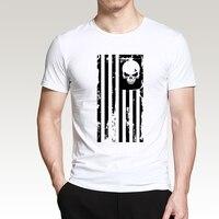 Cool T Shirt The Punisher Skull 2017 Summer New Cotton Hipster O Neck Men T Shirt