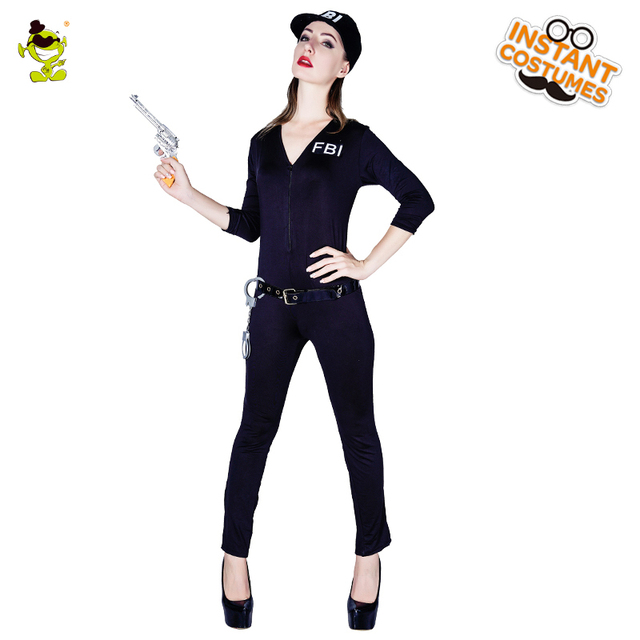 38394e6d8 Adulto Sexy Jogo Policial DO FBI FBI Traje Festa de Carnaval Disfraces  Fantasia Vestido Mulheres Frias