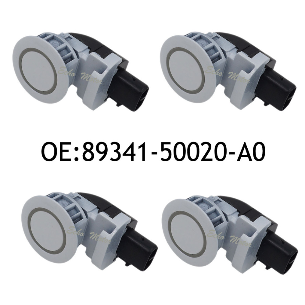 New 4pcs 89341-50020-A0 Ultrasonic PDC Parking Sensor For Toyota Celsior 2004-2006 89341-50020 White Parking Sensor System 4 pcs auto parts new original ultrasonic parking sensor 89341 76010 c0 89341 76010 8934176010 for lexus gs450 hybrid