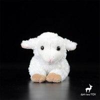 Superior calidad de Exportación del REINO UNIDO Tumbado postura ovejita muñeca Simulado peluche muñeca de juguete artificial pequeño regalo suave blanco
