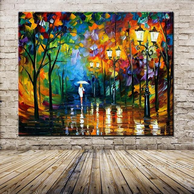 Hand-painted Landscape Oil Painting Palette Knife Thick Paint Bright In  Colour Modern Home Canvas