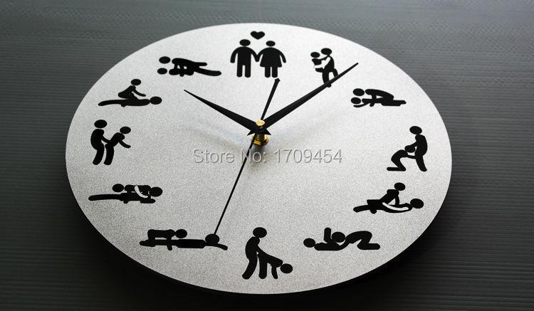 Mirror wall clocks sexual liberation design 12 fancy home