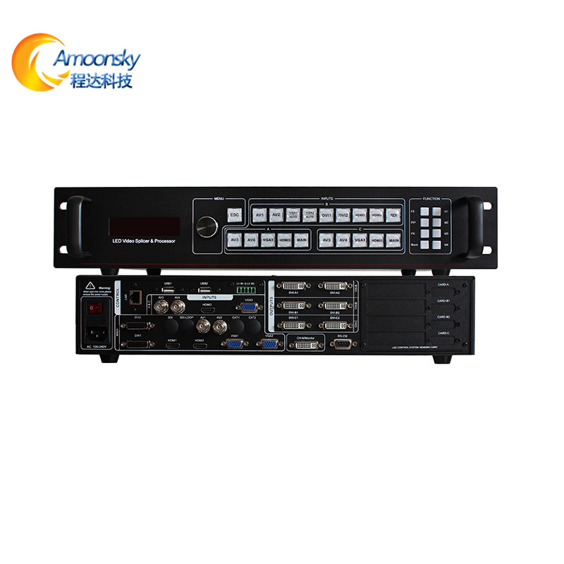 amoonsky sc359 multi picture video processor rgb led matrix wall led video scaler switcher for p10 led module rgb display amoonsky ams lvp613w led video processor add wifi with audio in and out