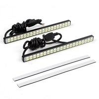 DRL Car Styling Universal DC 12V Car LED Daytime Running Lights 42 LED Chips 2Pcs White