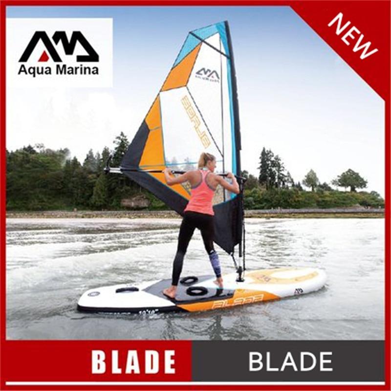 330*80*15 cm AQUA MARINA LAMA gonfiabile sup board con vela windsurf stand up paddle tavola da surf bordo tavola da surf kayak A02003