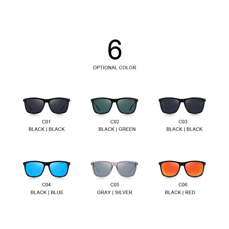 Image 5 - MERRYS DESIGN Men Women Classic Square Polarized Sunglasses Aluminum Legs Lighter Design UV400 Protection S8286-in Men's Sunglasses from Apparel Accessories