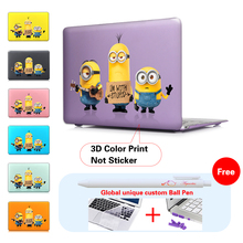 Hard Clear Crystal for apple macbook Air 13 11 Stray Minions Case Pro 13 12 15 Retina Case Cover 2017 New Touch Bar A1706 A1707