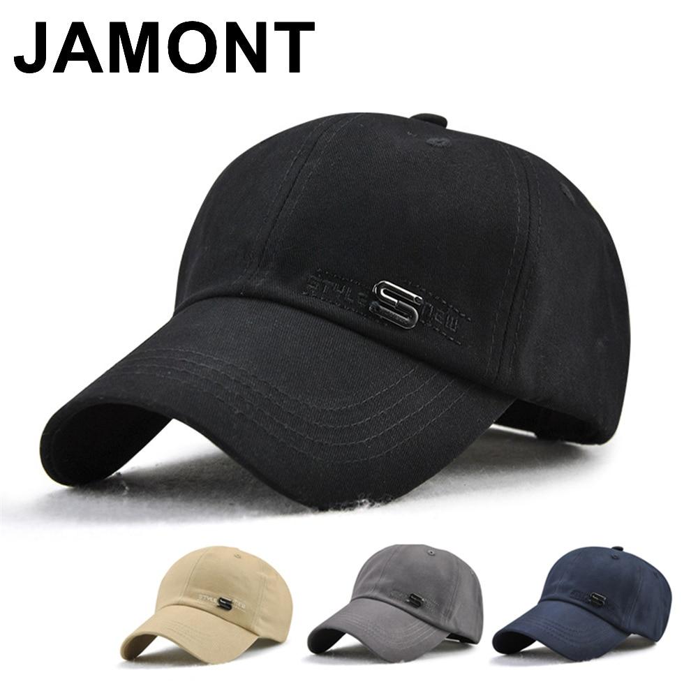 Jamont Mens Berretto Da Baseball del Cotone di Estate Autunno Golf Cappello  Del Sole di Marca Osso Casquette Papà Cappelli Curvo Visiera Regolabile  Snapback ... e4cdb3797599