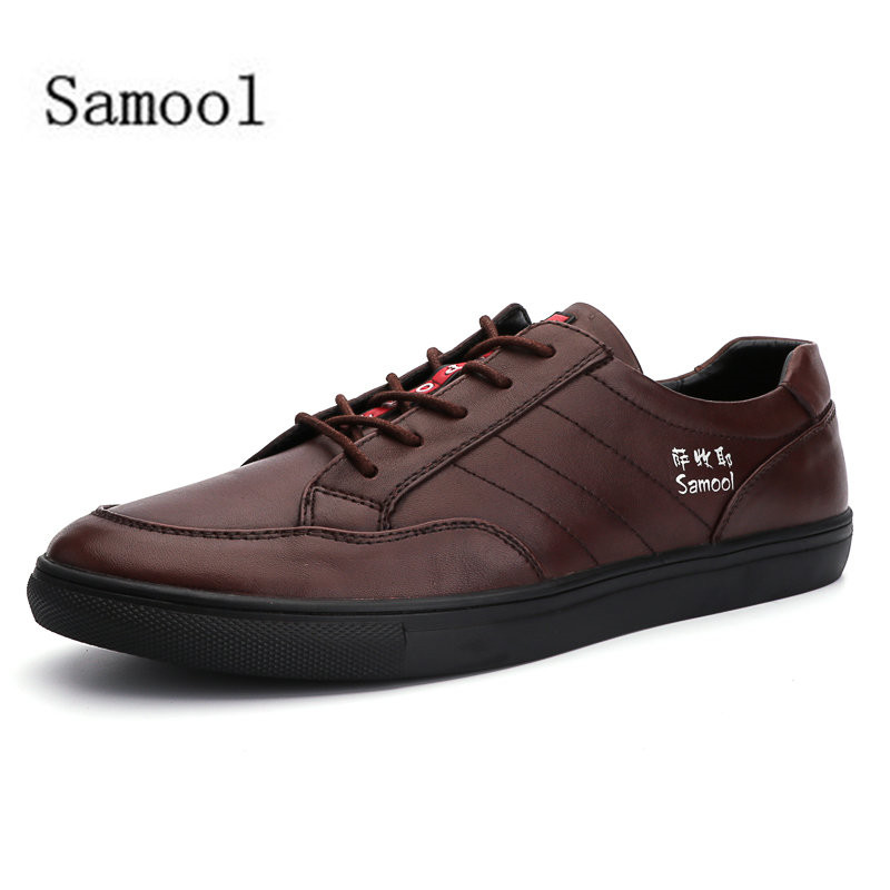 Man Casual Shoes Spring Autumn Lace Up Style Genuine Leather Fashion Trend Flats Low heeled Men Business Shoes Big Size 38-47 new 2015 men canvas shoes casual men flats shoes casual spring autumn fashion men flats shoes black brown fashion low style