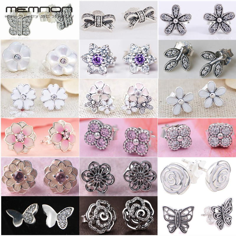 Memnon Stud-Earrings 925-Jewelry-Flowers Silver Spring-Collection Women And for 925-Sterling-Silver