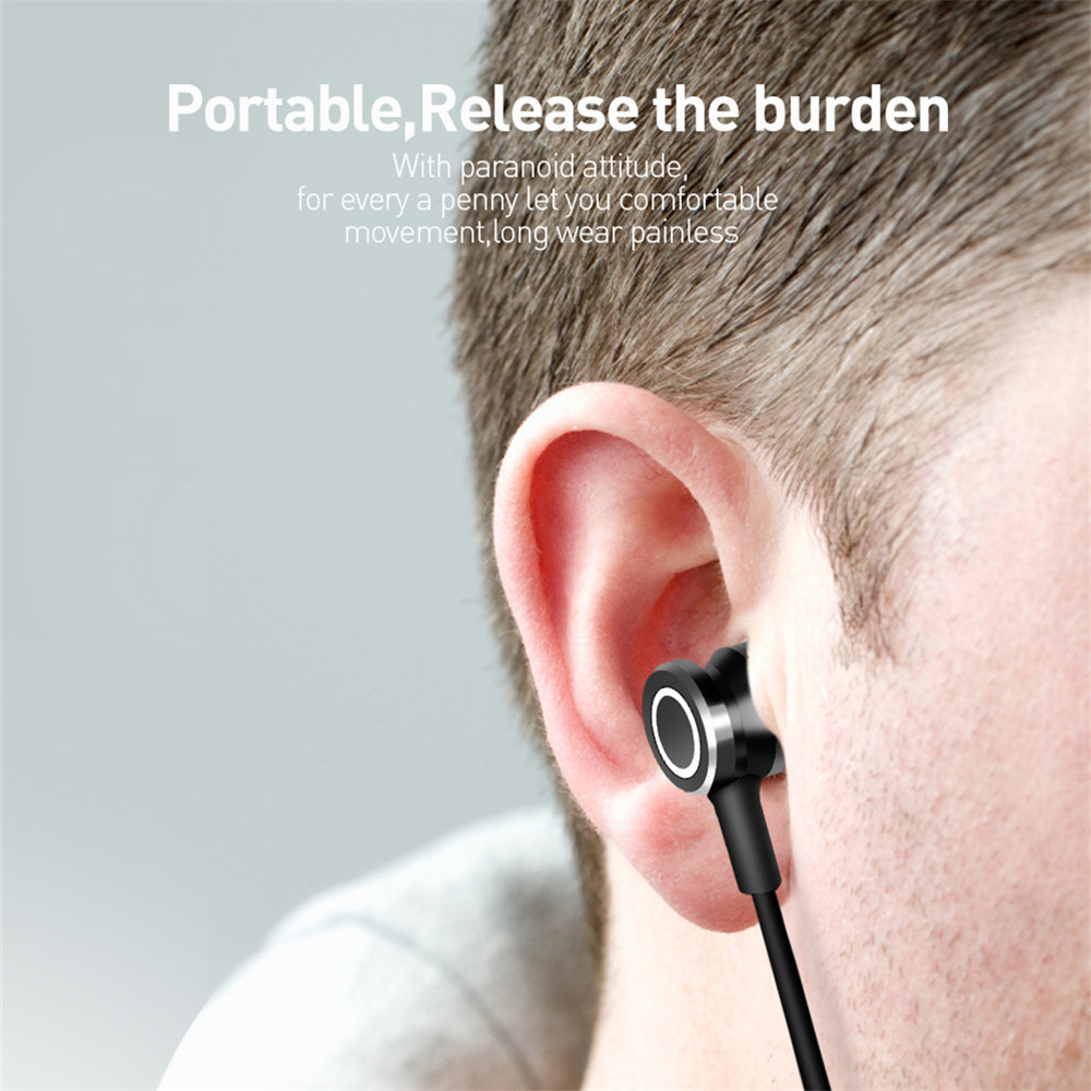 Lamyik Neckband Bluetooth Earphone Wireless Headphone For Xiaomi iPhone Earbuds Stereo Vluetooth 4.1 Magnetic Headset with MIC