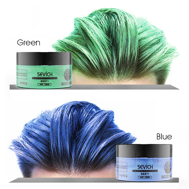 SEVICH שיער סטיילינג מוצר דפוס להדביק סין הודעה משלוח אחד-זמן לצבוע DIY 8 צבעים שעוות קרם טבע אופנה איפור גוסס-קל