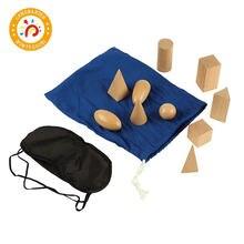 Монтессори материал сенсорные деревянные игрушки тайна мешок