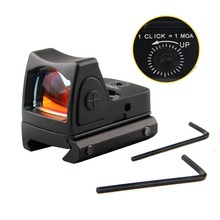 Mini RMR Red Dot Sight Collimator Glock Reflex Sight Scope fit 20mm Weaver Rail For Airsoft / Hunting Rifle RL5-0004 hunting scope tactical acog 1x32 red dot sight scope optic reflex riflescope with 20mm picatinny rail for rifle m4 m16 airsoft