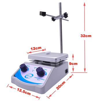 110V 220V , SH-2  Laboratory Hot Plate Magnetic Stirrer Mixer Dual Control with 1 inch Stir Bar (New Style) 200w 50hz magnetic stirrer with hotplate digital mixer heating plate control 110v 220v