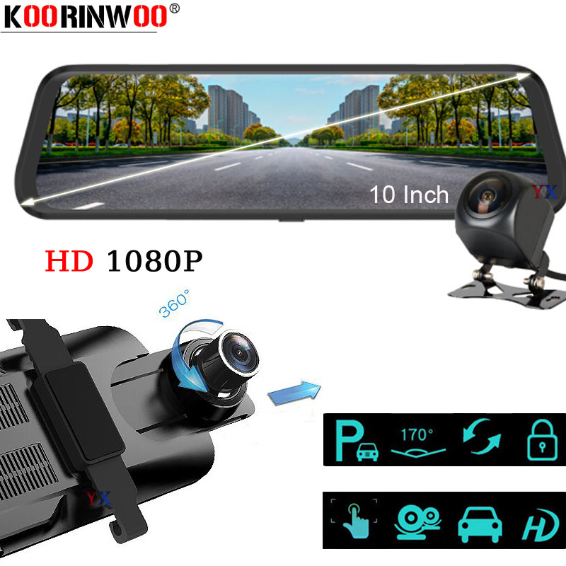 Koorinwoo 2019 <font><b>Car</b></font> <font><b>DVR</b></font> <font><b>Mirror</b></font> Dual 9.68