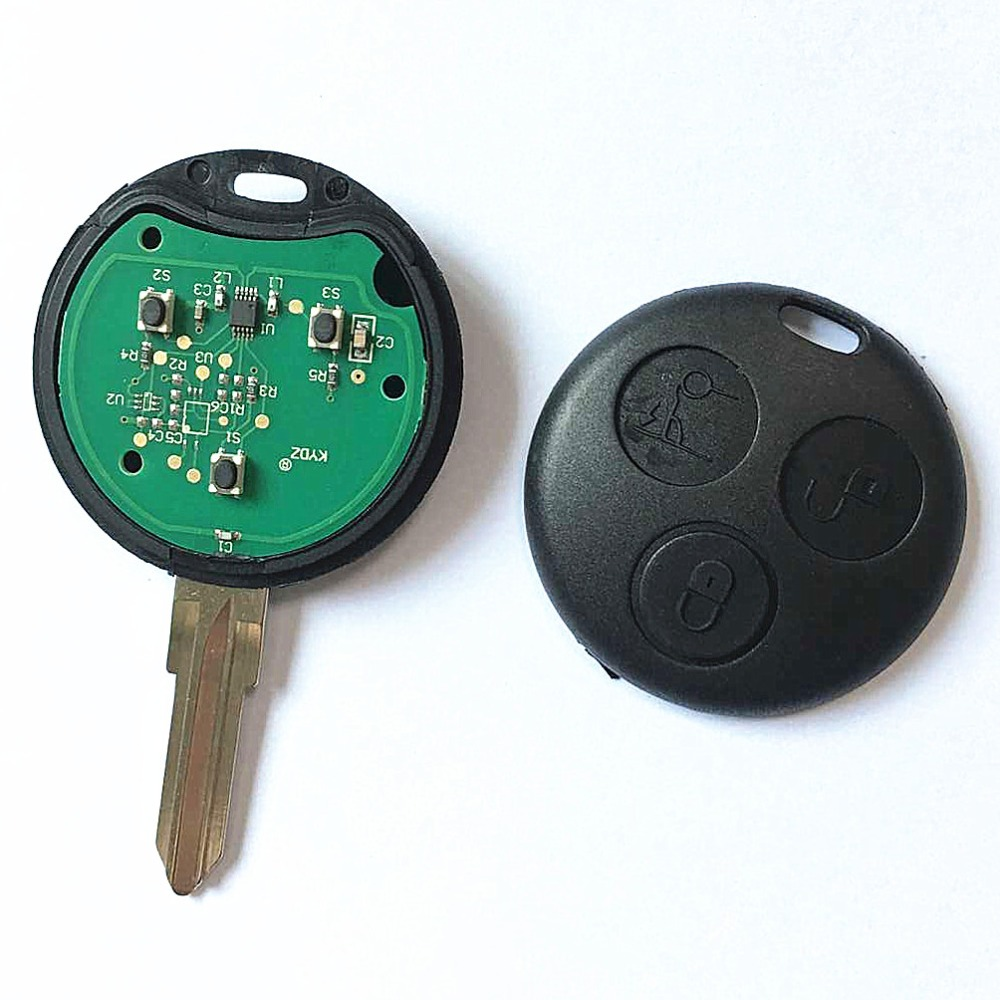 3 buttons remote key for mercedes foe benz smart key for Mercedes benz smart key replacement