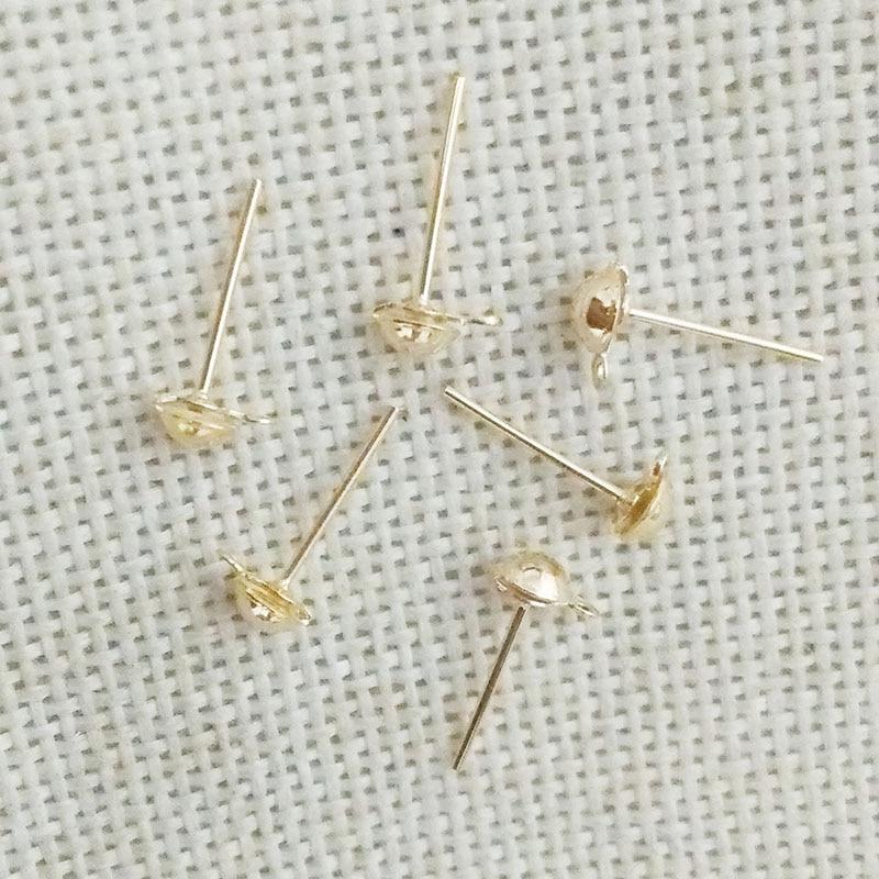 Earrings Findings Head Pins Needles Studs Jewelry Making Diy With