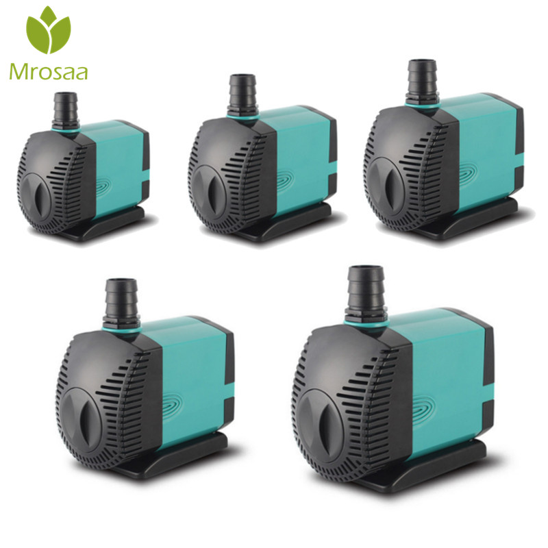 NEW!! Water Fountain Pump Filter 3/6/10/15/25W Ultra-Quiet Submersible Fish Pond Aquarium Water Pump Tank Fountain Aquatic