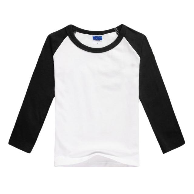 Thrasher Girls Blank T Shirt Raglan Long Sleeve Plain Tee Shirts