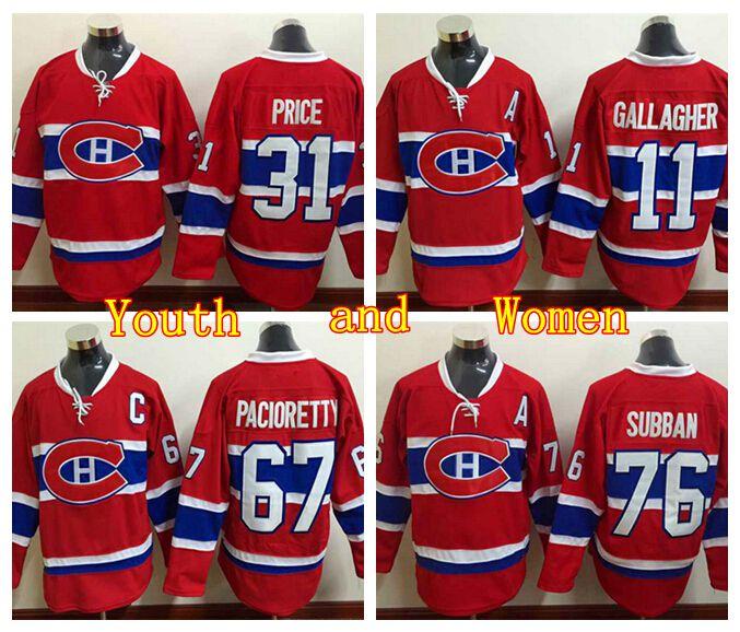 ... 67 max pacioretty youth montreal canadiens hockey jerseys women 76 p.k  pk subban 11 brendan gallaghe 25ae2524d