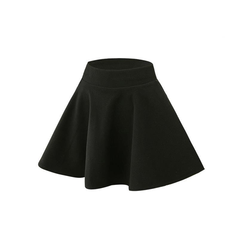 Autumn and woolen female 2018 new a word package winter pleated skirt