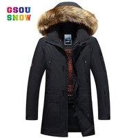 GSOU SNOW New Sportswear Winter Ski Jackets Men Warmth Outdoor Snowboard Jackets Windproof Breathable Male Sports Jackets