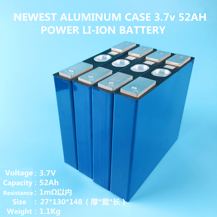 High-capacity 3.7V 52AH/57AH Power Li-ion Lithium Ion Rechargeable Battery(ALUMINUM CASE For Traction Batteries,electric Vehicle