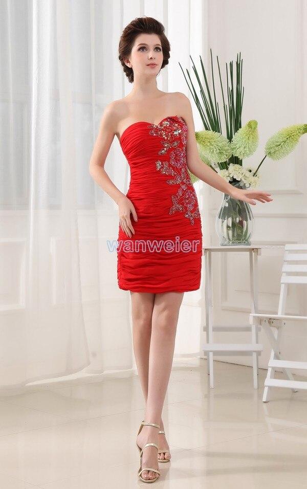 free shipping 2016 new design fashion brides maid   dresses   short red chiffon cheap   dresses   high quality   Bridesmaid     Dresses