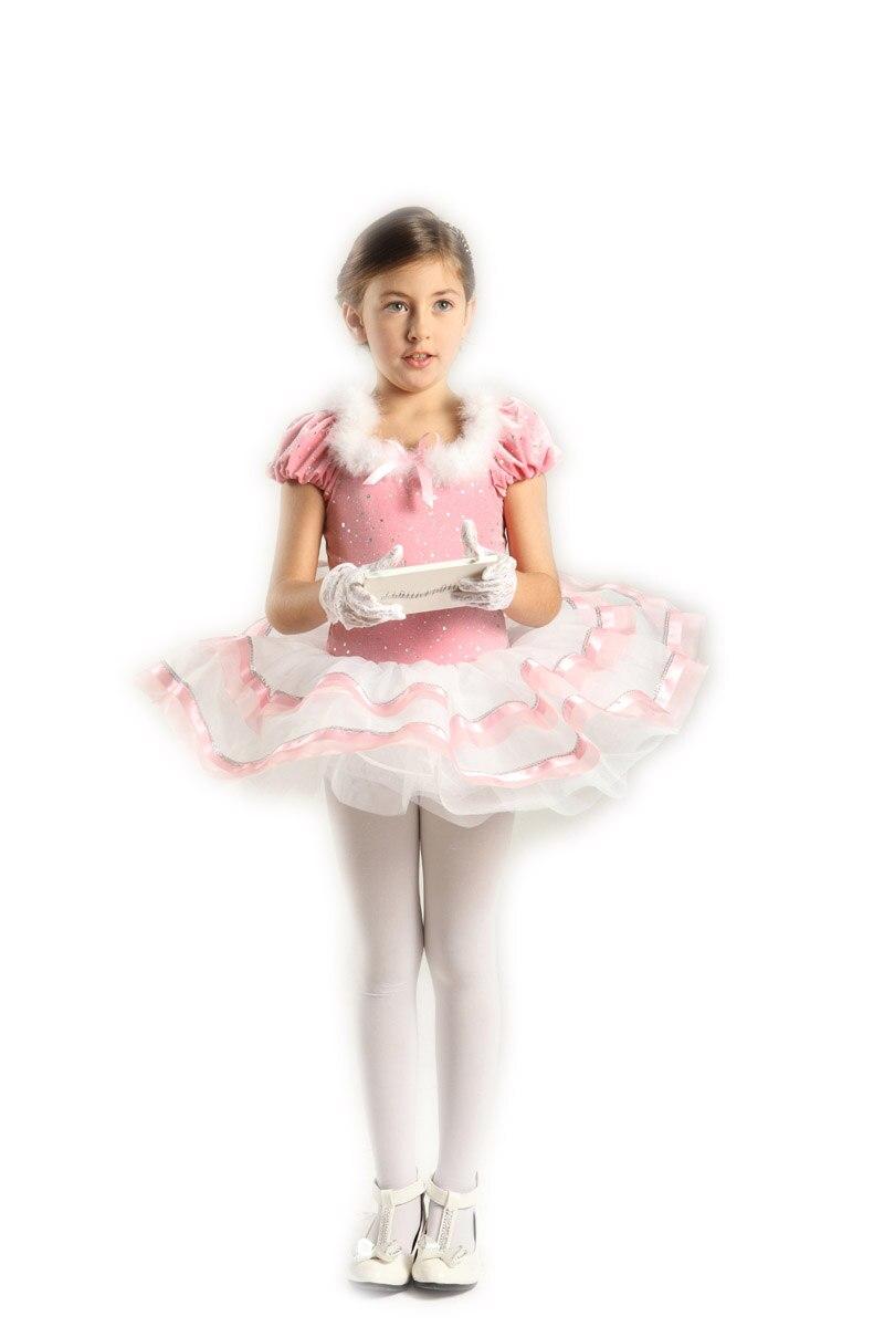 2018 Acetaat Real Hot Koop Gymnastiek Turnpakje Justaucorps Kind Dans Rok Prinses Ballet Tutu Jurk Voor Kinderen Professionele