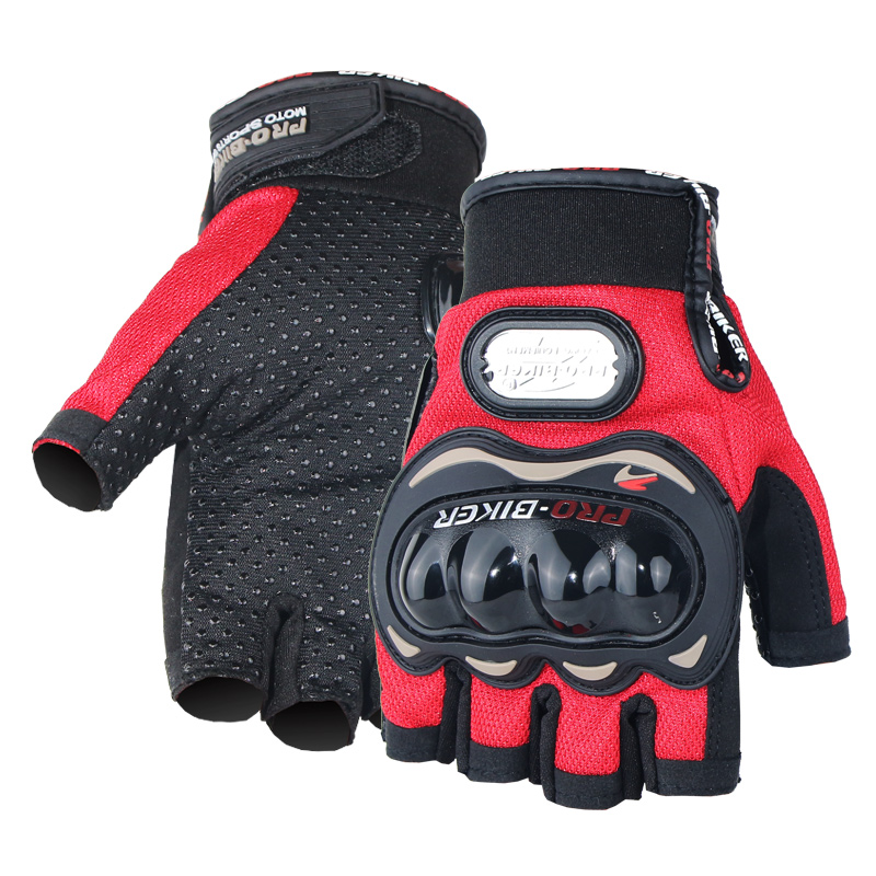 PRO-BIKER Motorcycle-Gloves Offroad Scooter Riding Half-Finger Racing Guantes Protective