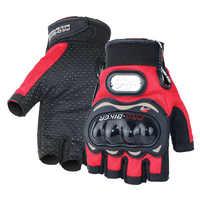Guantes de Moto PRO-motociclista de medio dedo para carreras de motocross, protectores de carretera, Moto, Guantes, Moto