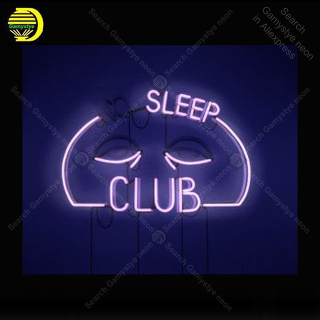 Neon light Signs Sleep Club Neon Bulb sign Lamp Handcraft Beer Bar PUB display Custom LOGO neon Letrero Neons enseigne lumine