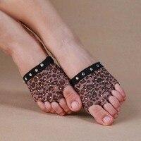1 Pair Leopard Belly Dancing Foot Thong Dance Accessories Toe Pads Heel Protector Professional Ballet Dance
