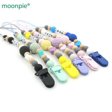 NEW personalized baby silicone pacifier clip, dummy chain 6 colors mint pink girl clips accessories CB03